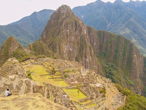 the Incan city of Machu Picchu