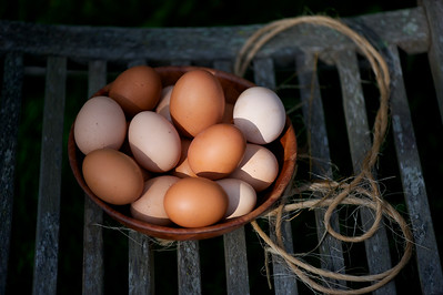eggs and string