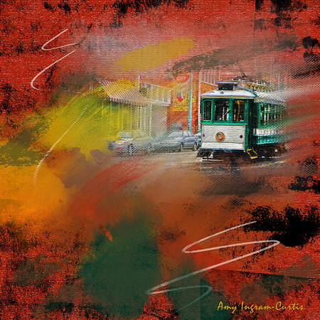 Digital Art_Memphis South Main Trolly