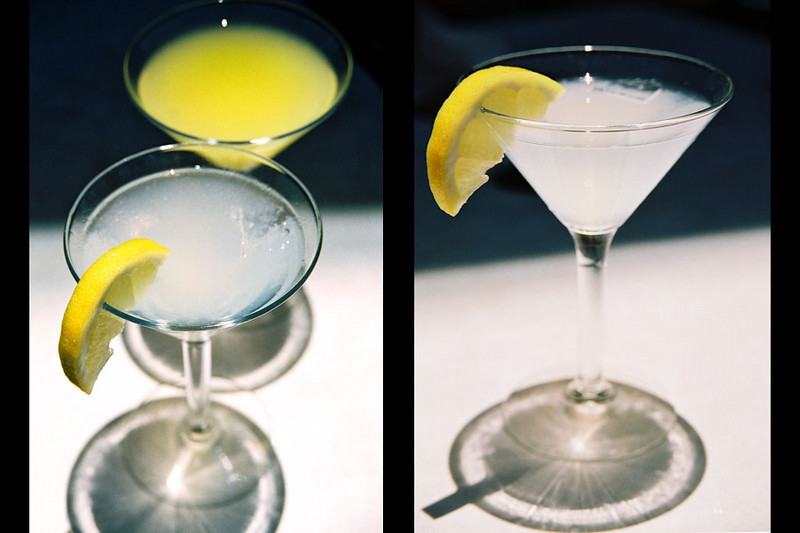 Lemon & Sugar Martini's.