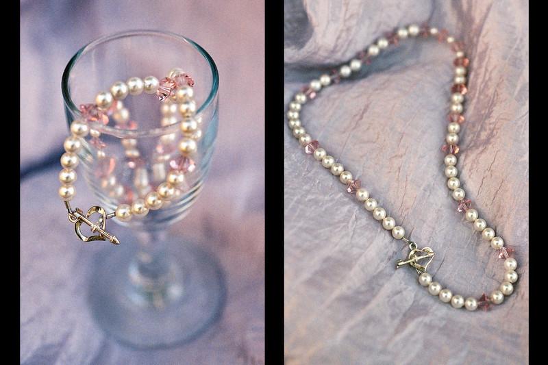 Customized jewelry. Notice the Heart-N-Arrow Clasp.