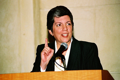 Chief of Homeland Security, Janet Nepolitano.