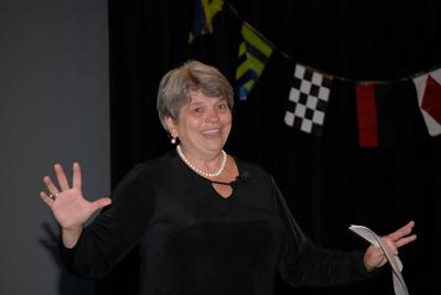 Carol Taylor, RN, MSN, PhD. Fantastic speaker and humanitarian.