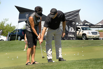 Professional guidance from a pro-golfer...background represents the host company, Cadillac.