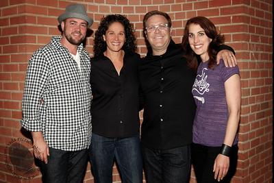 Comedians Ian Harvie, Dana Goldberg, Jason Dudey and Erin Foley.