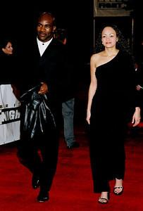 Evander Hollifield and his girlfriend.