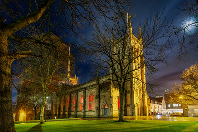 Blackburn Cathedral was lit red inside tonight in solidarity with those persecuted for their faith.