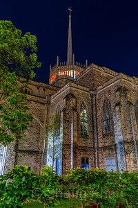 External Night Shot of Blackburn Cathedral