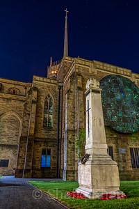 Nightshot of Blackburn Cathedral War Memorial