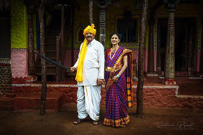 Mahesh bhai and Rajeshwari bhabi at Agadi Thota