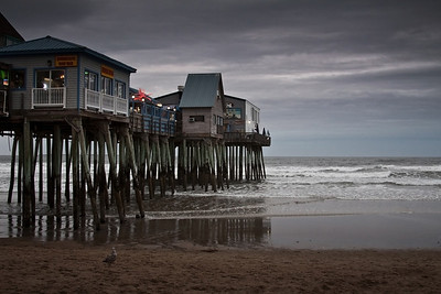 The famous pier at Old Orchard Beach.  Taken by Nate Doggart in Old Orchard, ME.