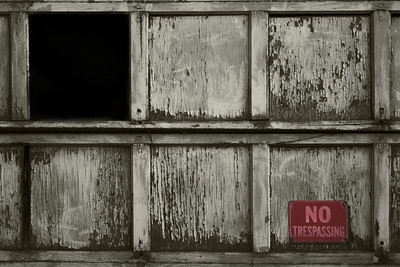 A run down garage door.  Taken by Nate Doggart in Worcester, MA.