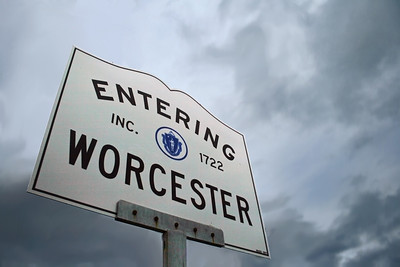 Our best selling photo! Entering Worcester sign.  Taken by Nate Doggart in Worcester, MA.