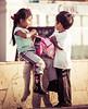 Peruvian Kids playing in Paracas