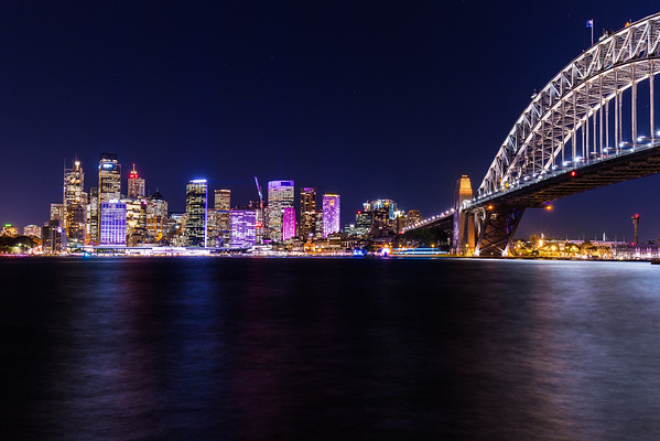 Sydney skyline Vivid