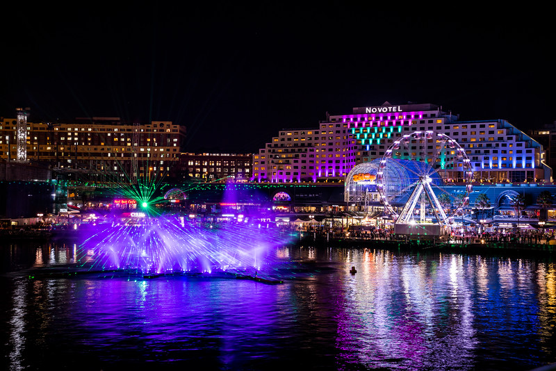 Vivid theatre Darling Harbour