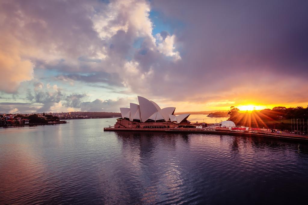 Sydney Harbour at sunrise