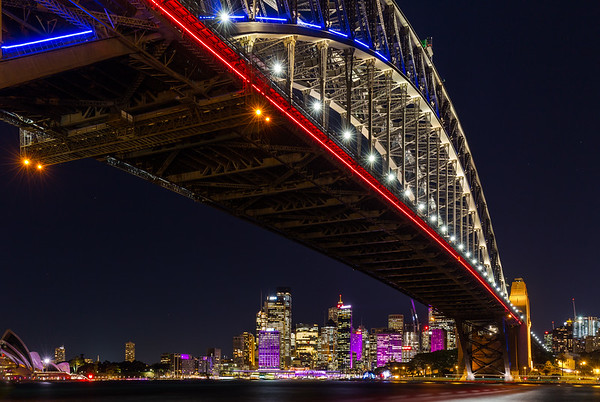 Harbour Bridge Vivid 2015
