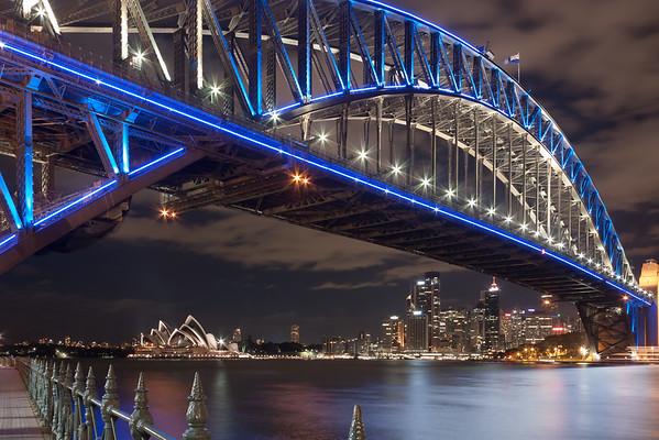 The blue Harbour Bridge