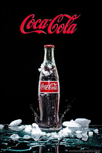 Composite of  Coca Cola bottle