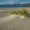 Wind patterns in the sand on Luskentyre beach, looking towards the North Harris hills