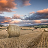 Round Bale sunset, Kinnahaird, Farm, Jamestown, Strathpeffer, Ross-shire