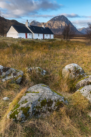Blackrock Cottage, Glencoe with the Buchaille in the background
