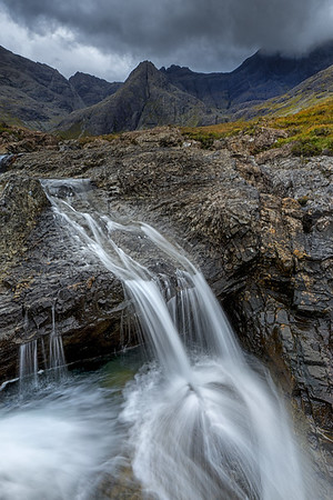 Small fall amongst between the Fairy pools of Glenbrittle, Isle of Skye