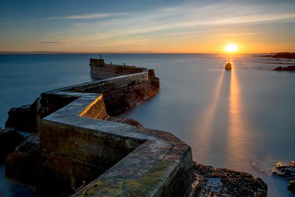 Zig Zag Harbour wall, St Monans, Fife