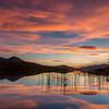 Stunning sunset at Loch a' Chuilinn, Garve, Ross-shire.