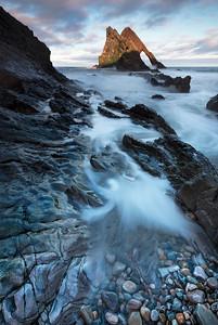 Bow fiddle rock, Portnockie, Moray