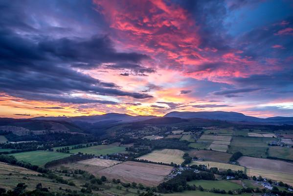 Ben wyvis Sunset, From Knockfarrel Viewpoint, Dingwall, Ross-shire