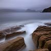 Misty Cuillin from Elgols rocky shore, Isle of Skye.