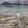 Barnacle covered rocks at low tide, Elgol, Isle of Skye