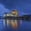 Blue hour at Eilean Donan Castle, Dornie, Kyle of Lochalsh, Wester Ross