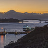 Kyle of Lochalsh, Kyleakin, Skye Bridge and the Cuillin Mountains