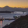 Kyle of Lochalsh, Kyleakin, Skye Bridge and the Cuillin Mountains