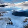 Frozen Shore line at Loch Glascarnoch, Garve, Ross-Shire
