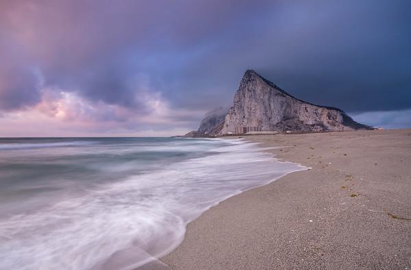 Sunrise on the Rock of Gibraltar, La Línea de la Concepción, Cadiz