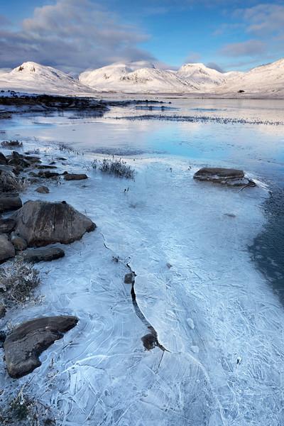Frozen shore line at Loch Glascarnoch, Garve, Ross-shire ( Portrait )