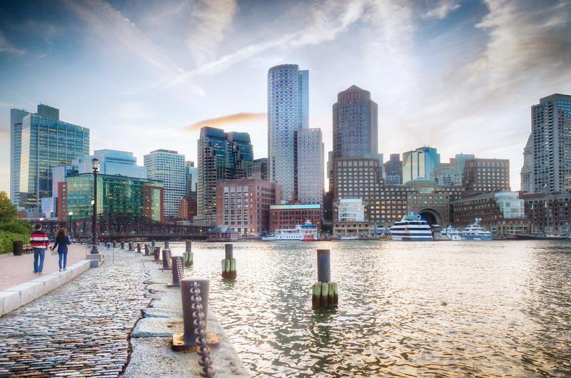 Boston Skyline at Dusk