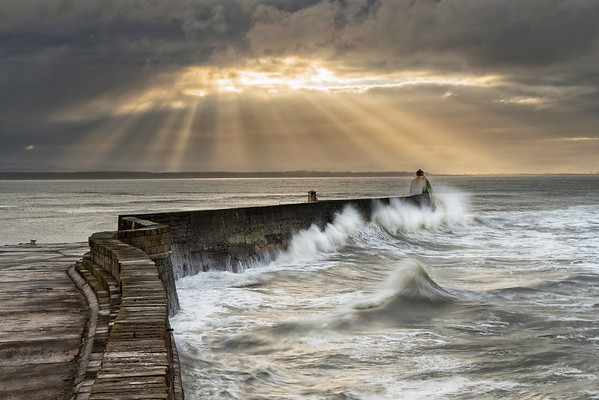 Burghead Harbour Wall, Burghead, Moray-shire