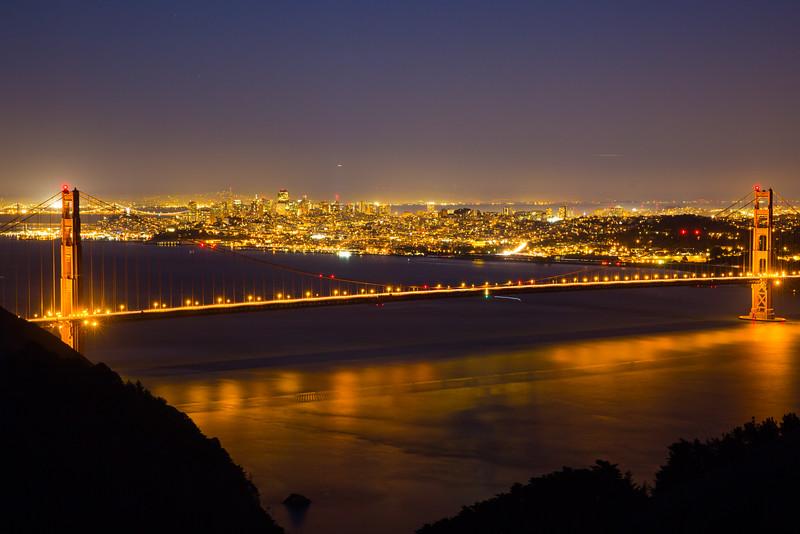 night view of golden gate bridge 3