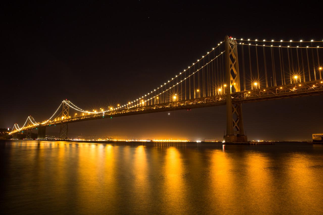 bay bridge night view