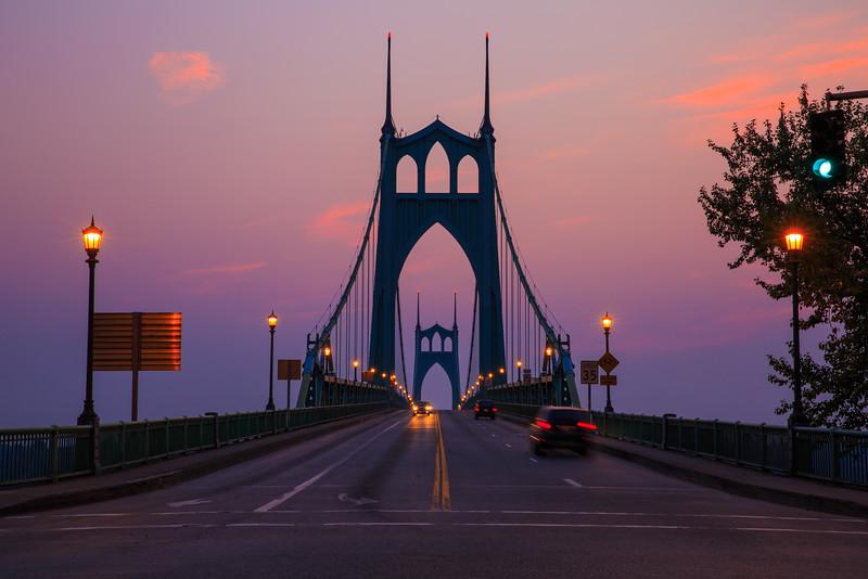 Sunrise from St.John's Bridge, Portland, Oregon