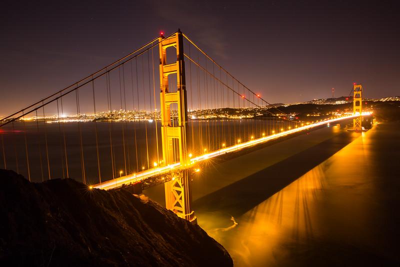 Golden Gate Bridge nightview 1