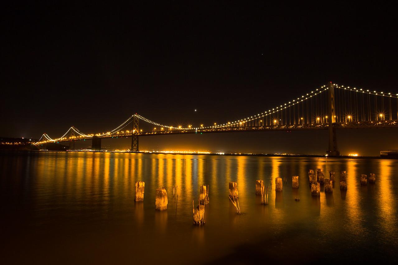 bay bridge night view 2