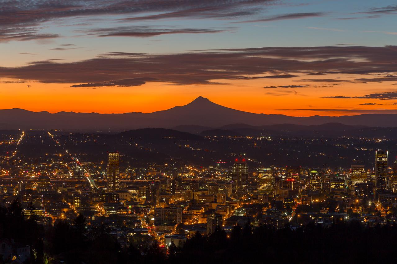 before sunrise of Portland