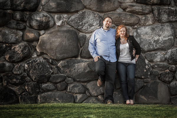 Engagement portrait by Jarboe Doggart Photography taken at Bancroft Tower in Worcester, MA.