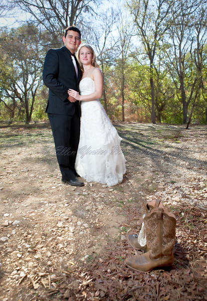 Bride & Groom Portrait with boots